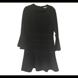 Kobi Halperin Fit and Flare Lace Trim Dress